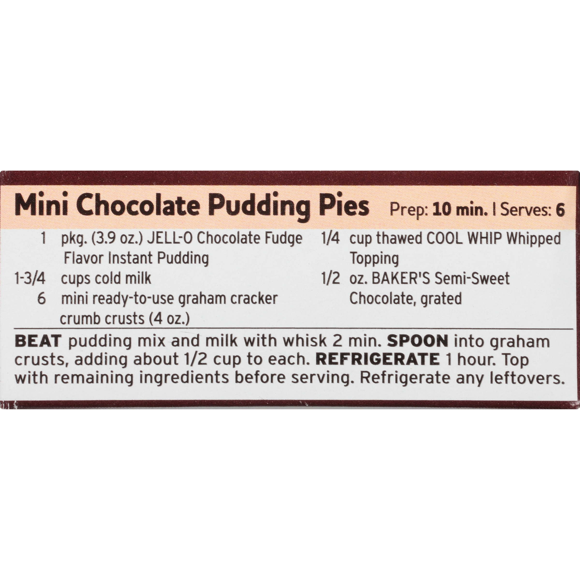 Jell-O Instant Chocolate Fudge Pudding & Pie Filling 3.9 oz Box