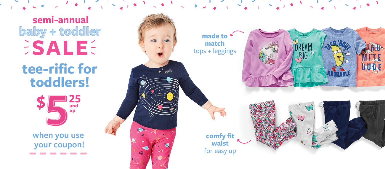 semi-annual baby + toddler sale | lowest prices of the season! | $7 doorbuster sleep and play